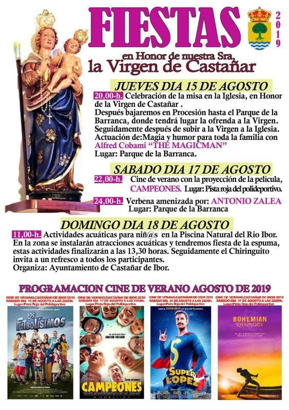 Fiestas de la Virgen de Castañar 2019 - Castañar de Ibor (Cáceres)