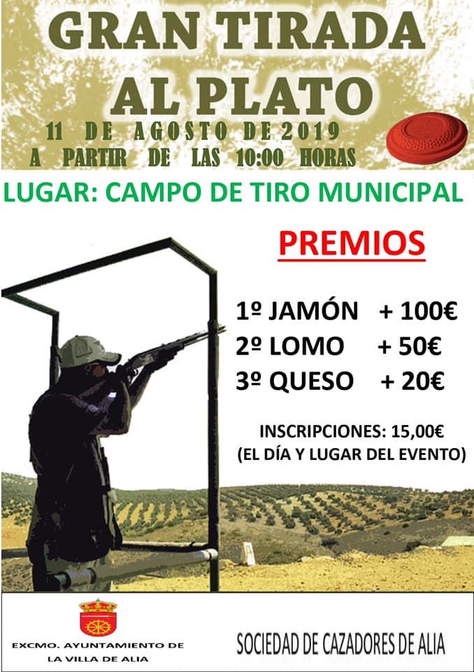 Gran tirada al plato agosto 2019 - Alía (Cáceres)