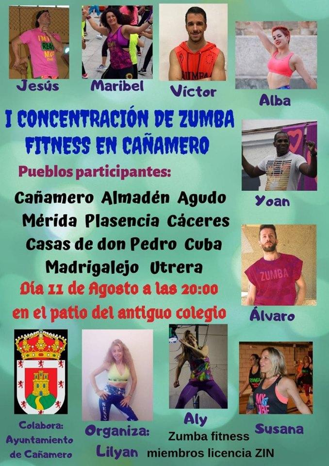 I Concentración de zumba fitness - Cañamero (Cáceres)