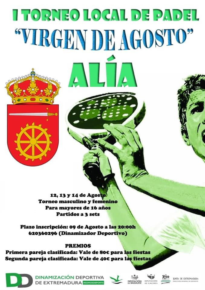 I Torneo local de pádel - Alía (Cáceres)