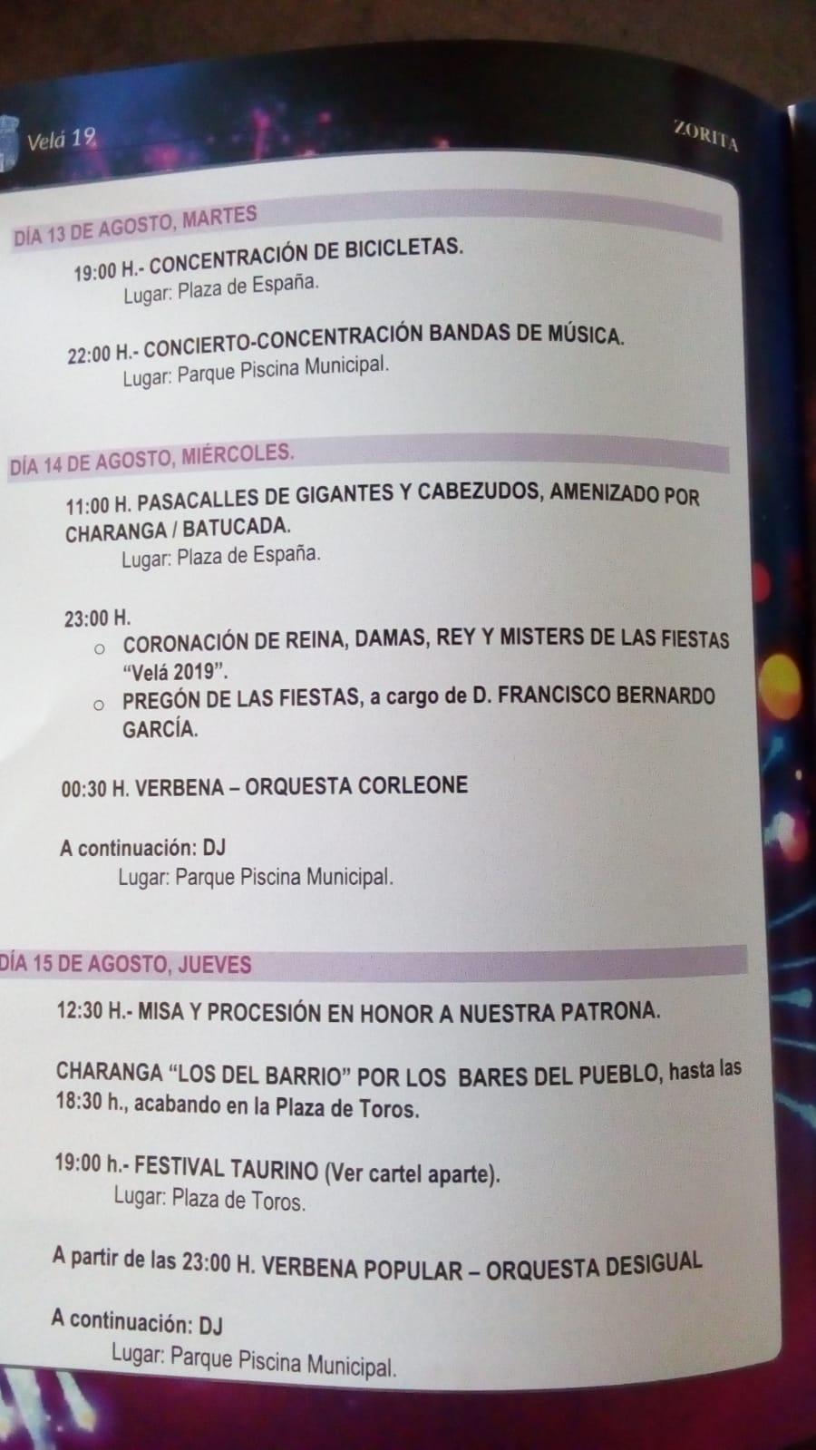 Programa Velá 2019 - Zorita (Cáceres) 3