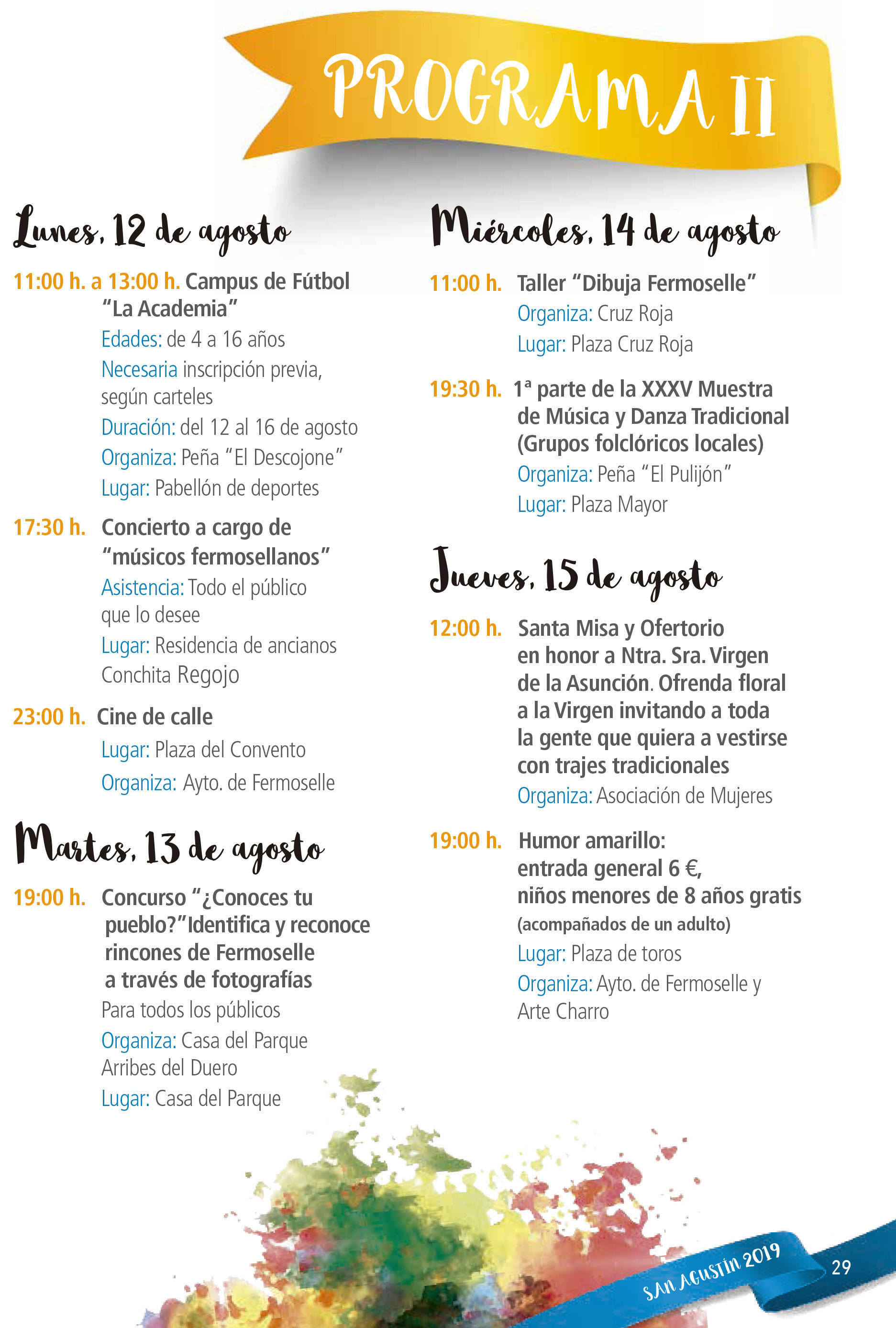 Programa de ferias y fiestas 2019 - Fermoselle (Zamora) 9