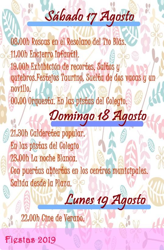 Programa de fiestas 2019 - Alía (Cáceres) 10
