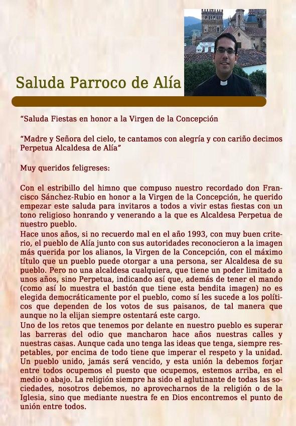 Programa de fiestas 2019 - Alía (Cáceres) 4