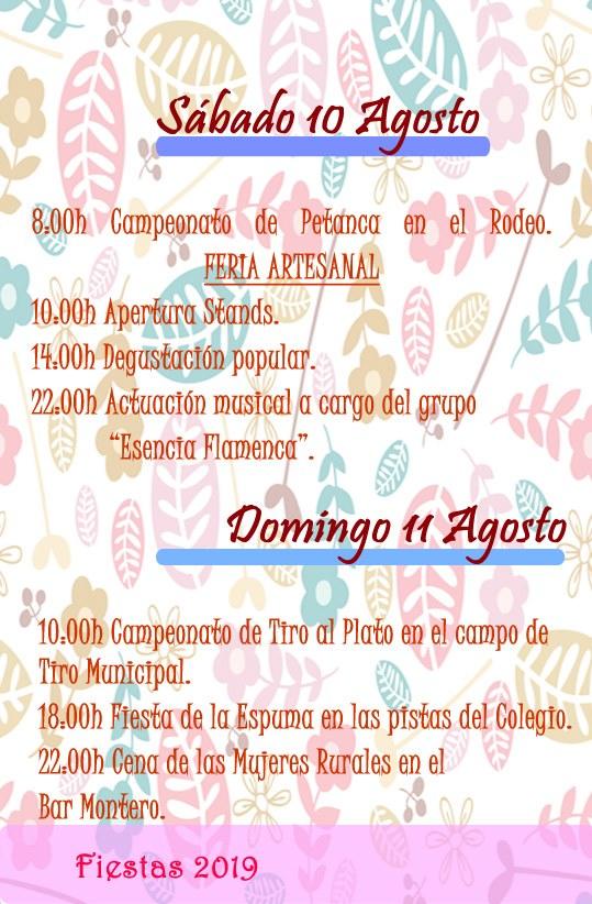 Programa de fiestas 2019 - Alía (Cáceres) 6