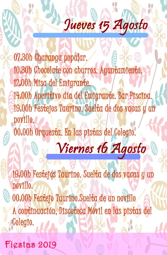 Programa de fiestas 2019 - Alía (Cáceres) 9