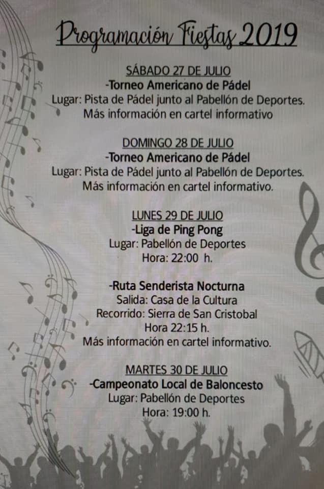 Programa de fiestas 2019 - Logrosán (Cáceres) 1