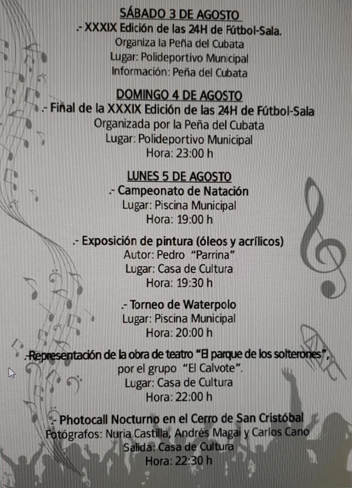 Programa de fiestas 2019 - Logrosán (Cáceres) 3
