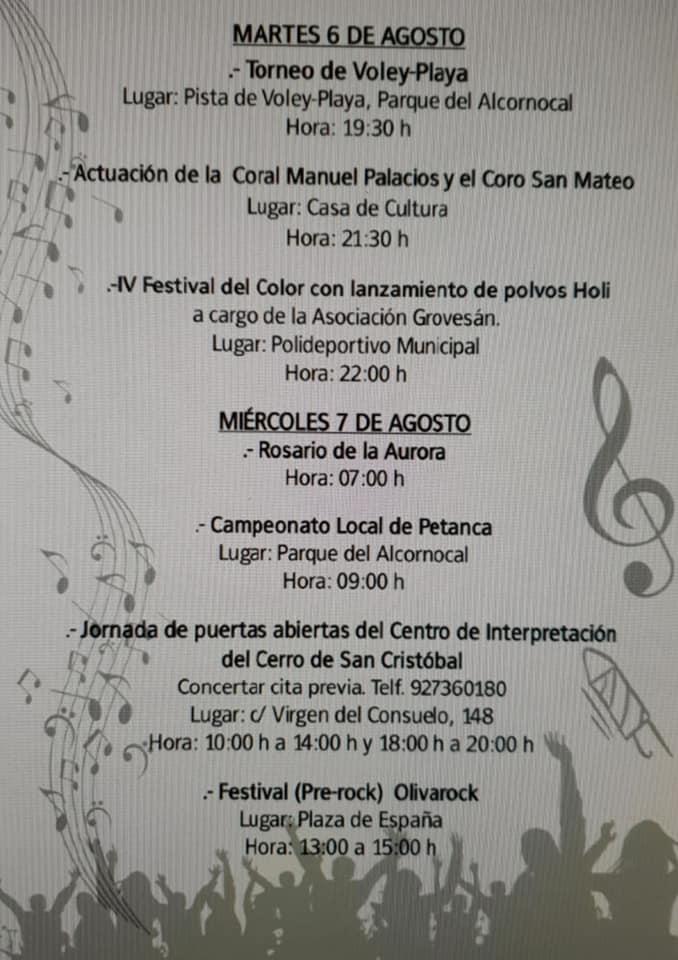 Programa de fiestas 2019 - Logrosán (Cáceres) 4