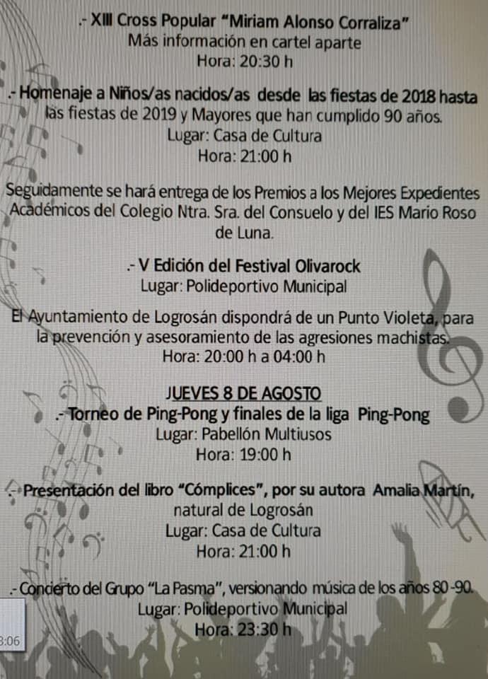Programa de fiestas 2019 - Logrosán (Cáceres) 5