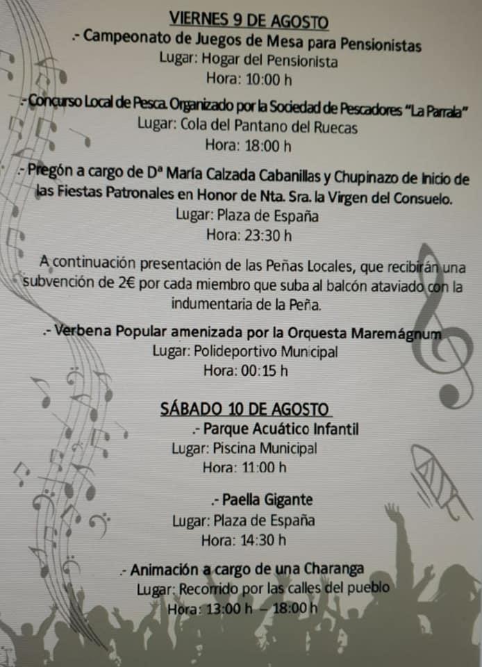 Programa de fiestas 2019 - Logrosán (Cáceres) 6