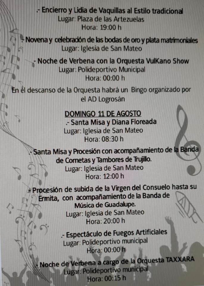 Programa de fiestas 2019 - Logrosán (Cáceres) 7