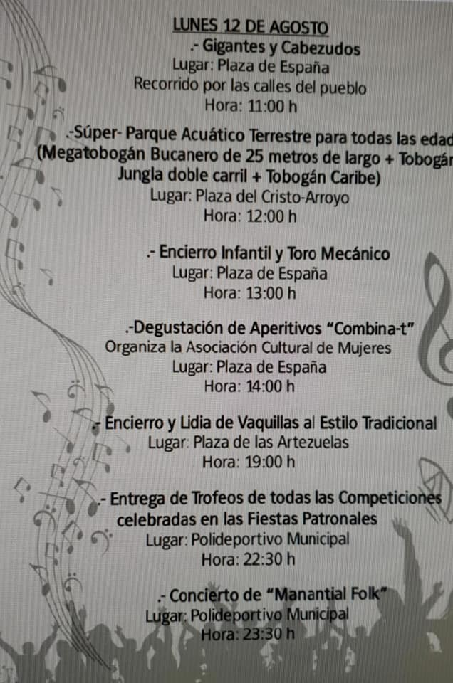 Programa de fiestas 2019 - Logrosán (Cáceres) 8