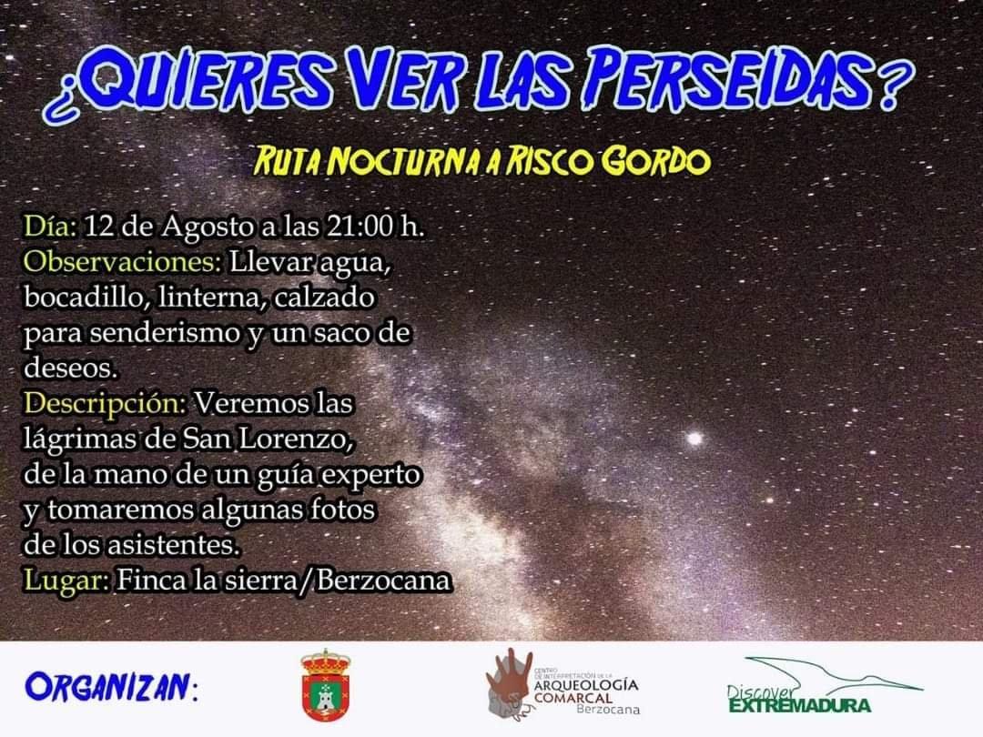 Ruta nocturna a Risco Gordo agosto 2019 - Berzocana (Cáceres)