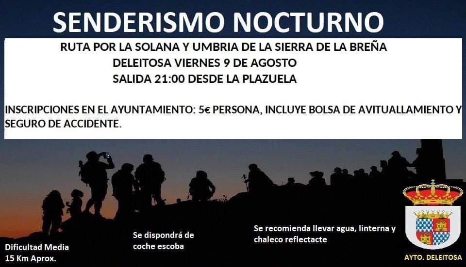 Senderismo nocturno agosto 2019 - Deleitosa (Cáceres)