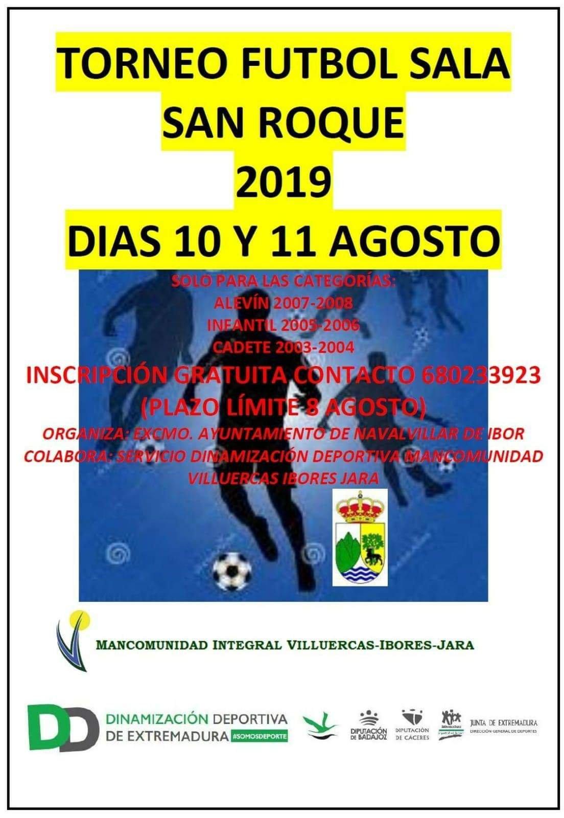 Torneo de fútbol sala San Roque 2019 - Navalvillar de Ibor (Cáceres)