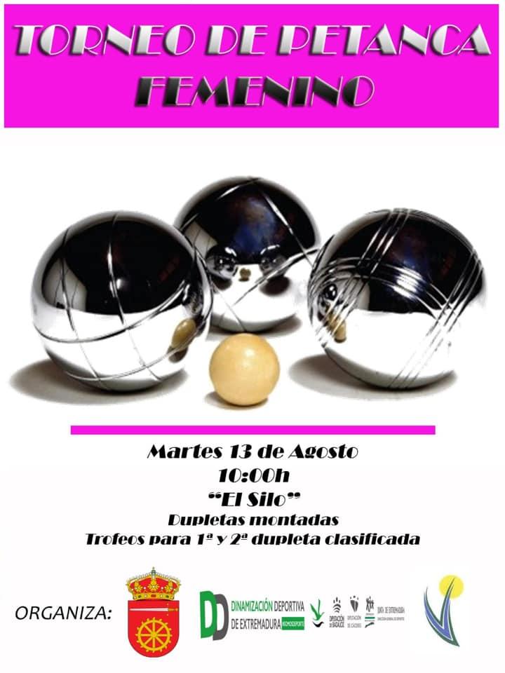 Torneo de petanca femenino agosto 2019 - Alía (Cáceres)