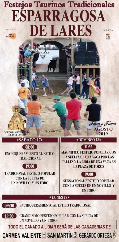 Tradicionales festejos taurinos 2019 - Esparragosa de Lares (Badajoz)