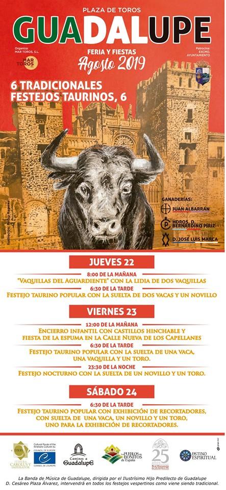 Tradicionales festejos taurinos 2019 - Guadalupe (Cáceres)