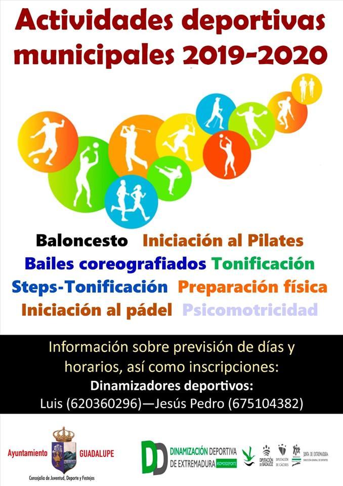 Actividades deportivas municipales 2019-2020 - Guadalupe (Cáceres)