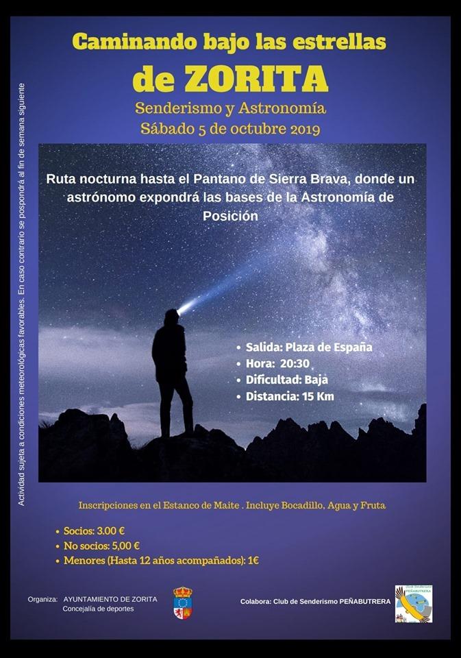 Caminando sobre las estrellas 2019 - Zorita (Cáceres)