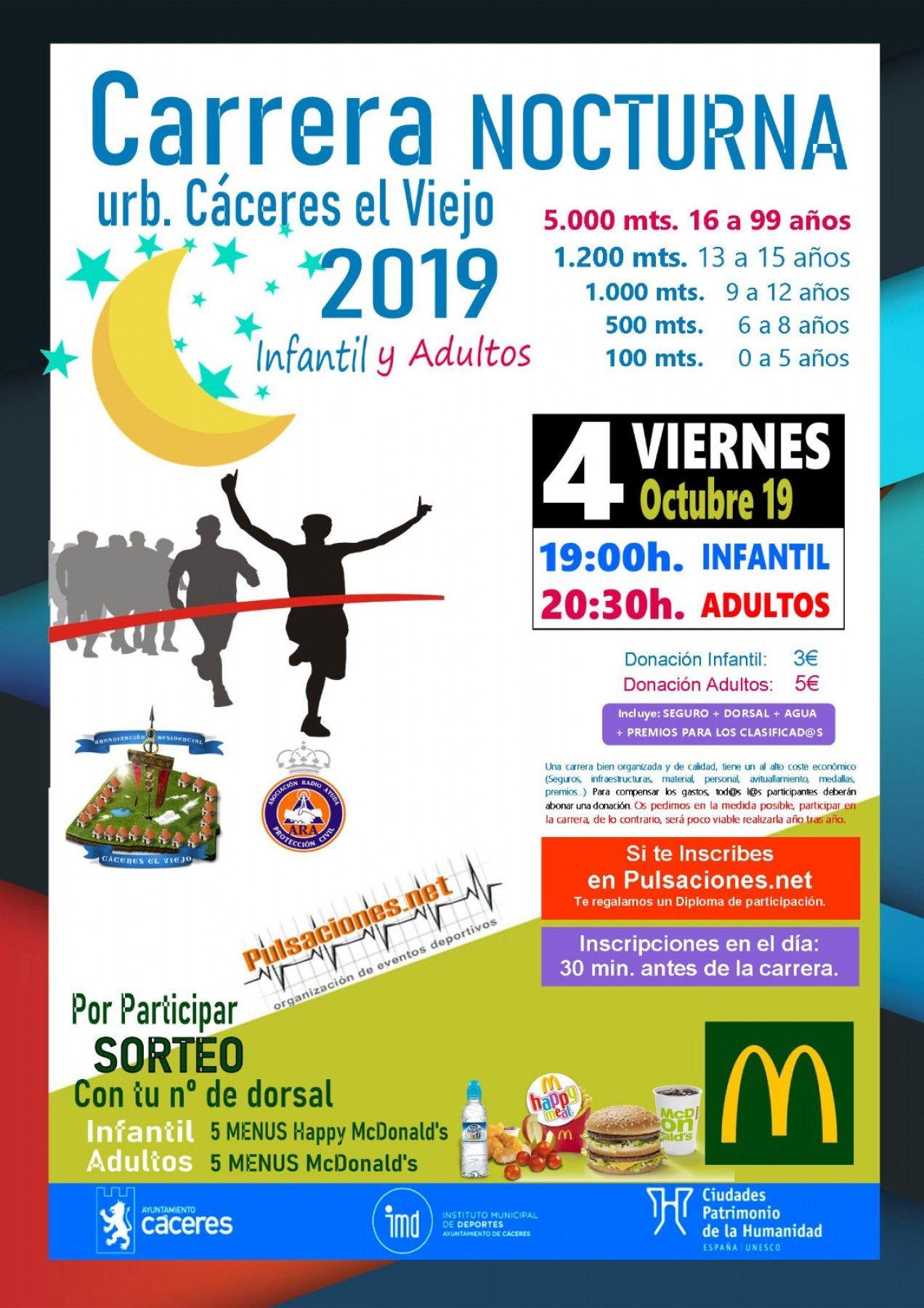 Carrera nocturna Cáceres el Viejo 2019 - Cáceres