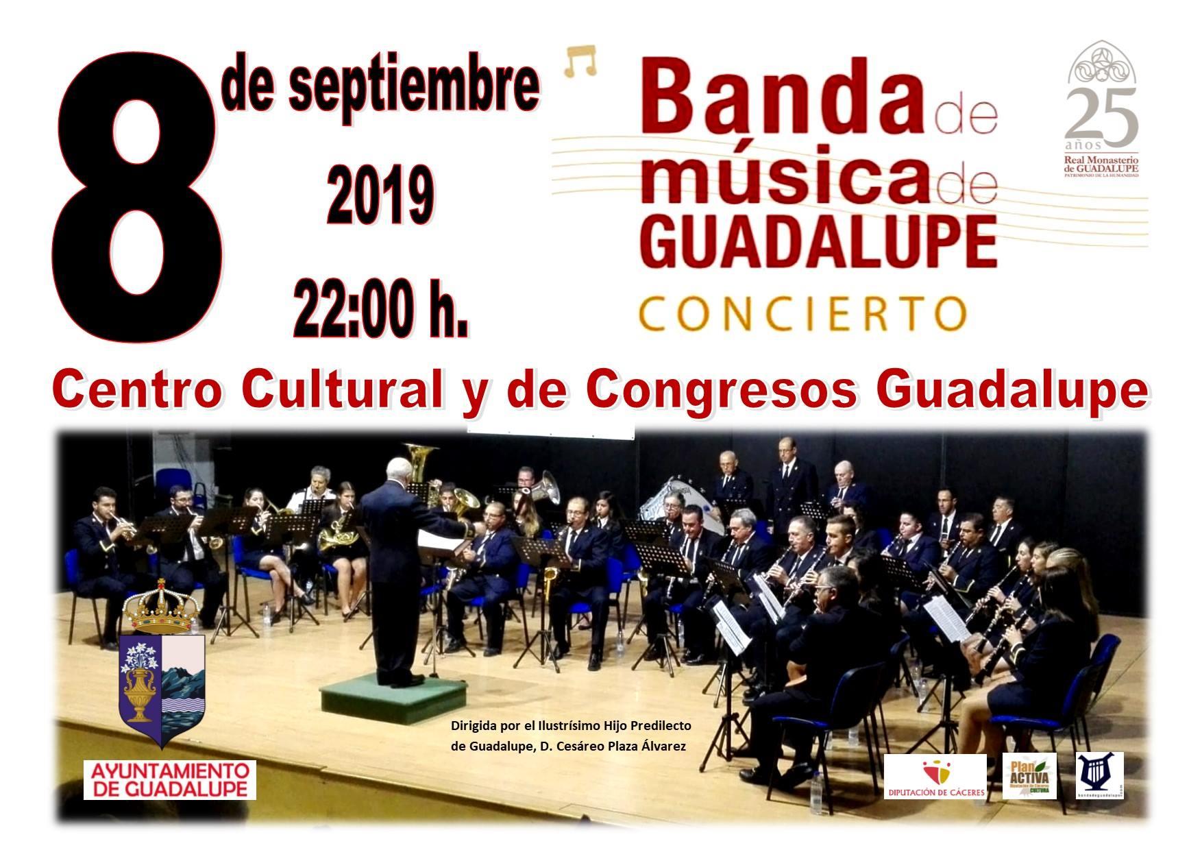 Concierto de la banda de música de Guadalupe 2019 - Guadalupe (Cáceres)