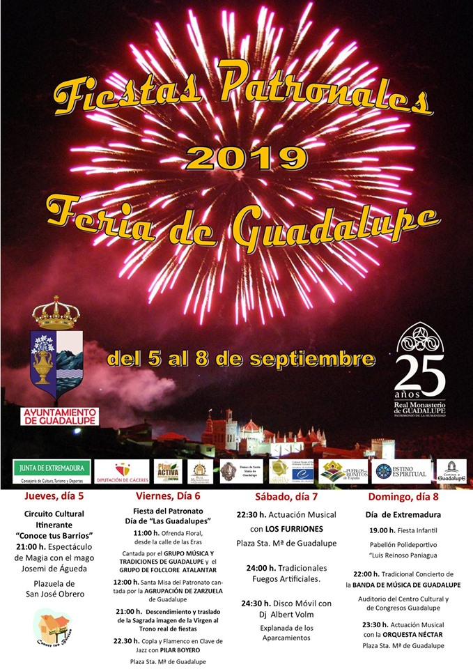 Fiestas patronales 2019 - Guadalupe (Cáceres)