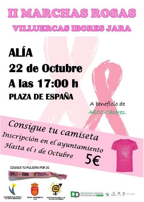 II Marchas rosas Villuercas Ibores Jara - Alía (Cáceres)