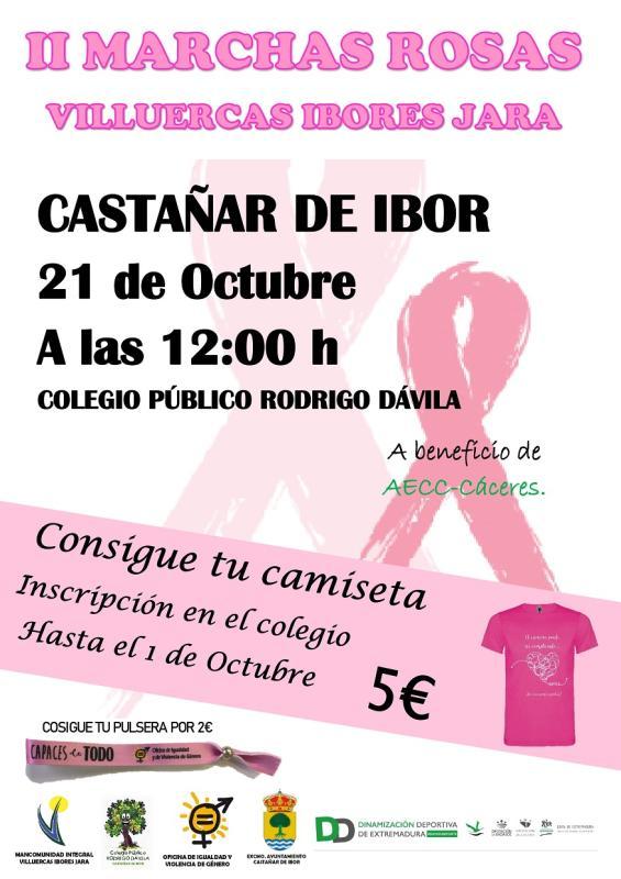 II Marchas rosas Villuercas Ibores Jara - Castañar de Ibor (Cáceres)