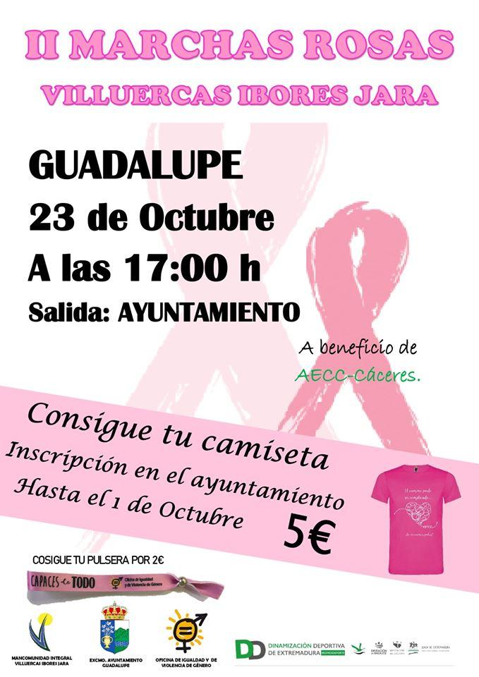 II Marchas rosas Villuercas Ibores Jara - Guadalupe (Cáceres)