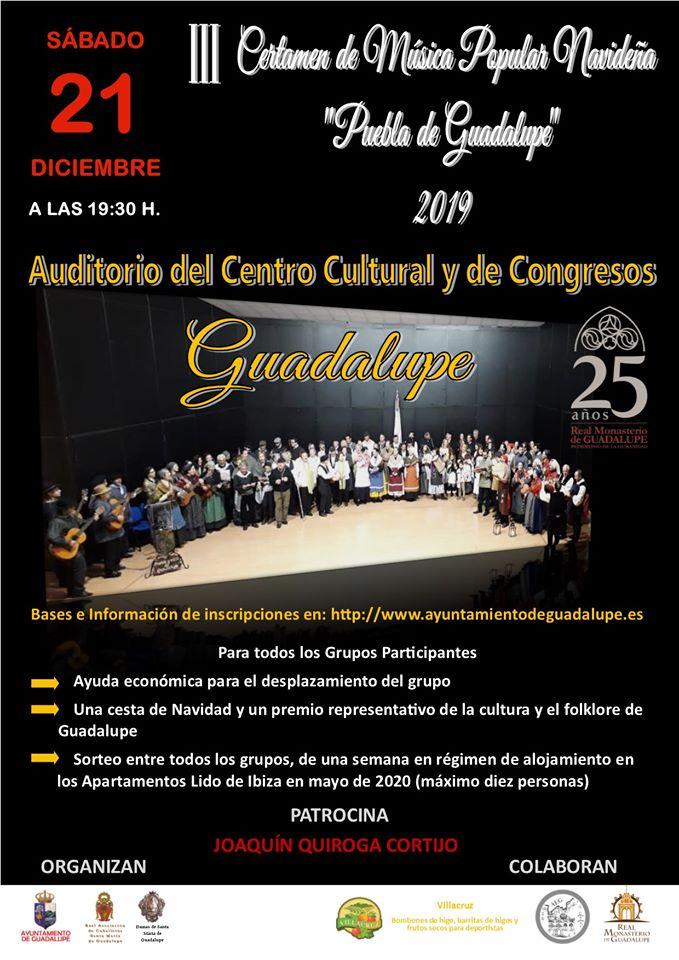 III Certamen de música popular navideña - Guadalupe (Cáceres)