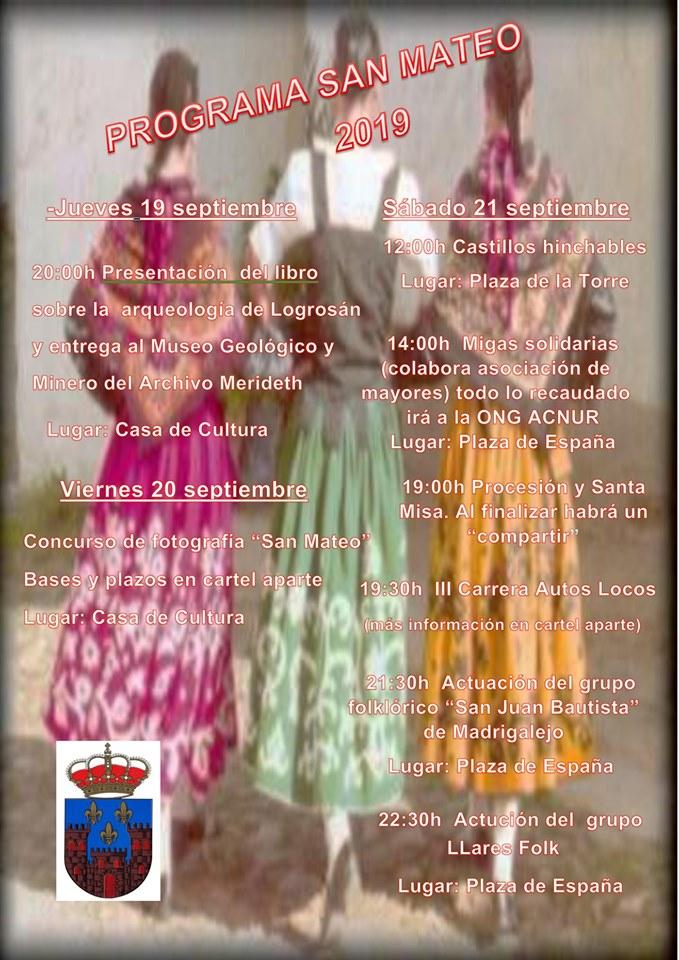 Programa de San Mateo 2019 - Logrosán (Cáceres)