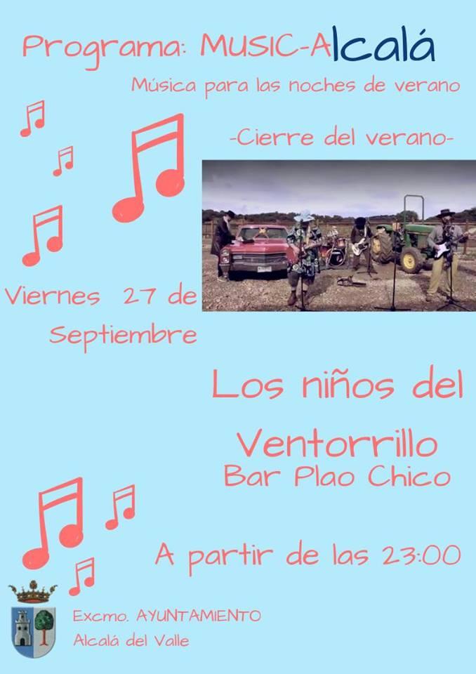 Programa de música para las noches de verano 2019 - Alcalá del Valle (Cádiz)
