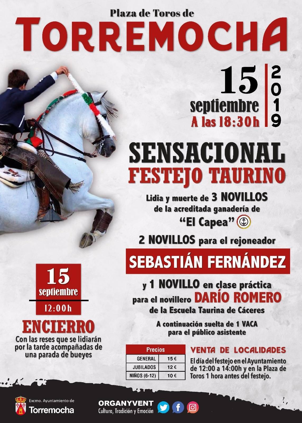Sensacional festejo taurino 2019 - Torremocha (Cáceres)