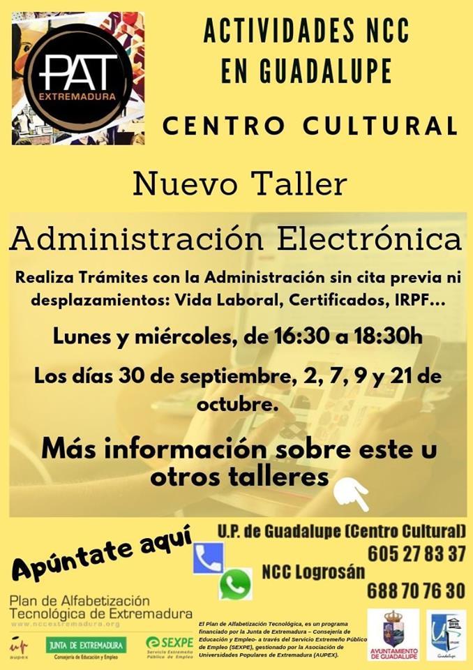 Taller de administración electrónica 2019 - Guadalupe (Cáceres)