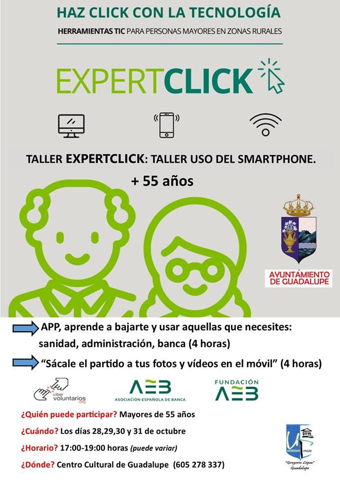 Taller de expertclick 2019 - Guadalupe (Cáceres)