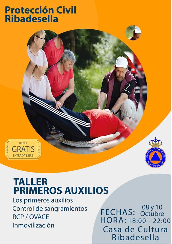 Taller de primeros auxilios 2019 - Ribadesella (Asturias)