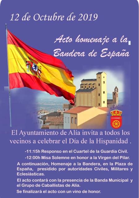 Acto homenaje a la Bandera de España 2019 - Alía (Cáceres)