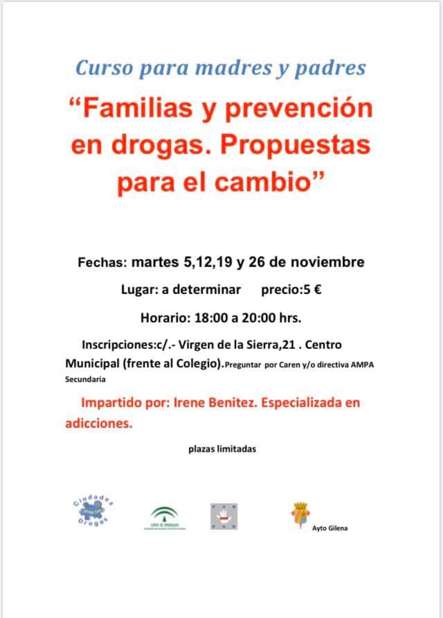 Curso para familias y prevención en drogas 2019 - Gilena (Sevilla)