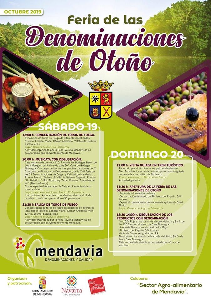 Feria de las denominaciones de otoño 2019 - Mendavia (Navarra)