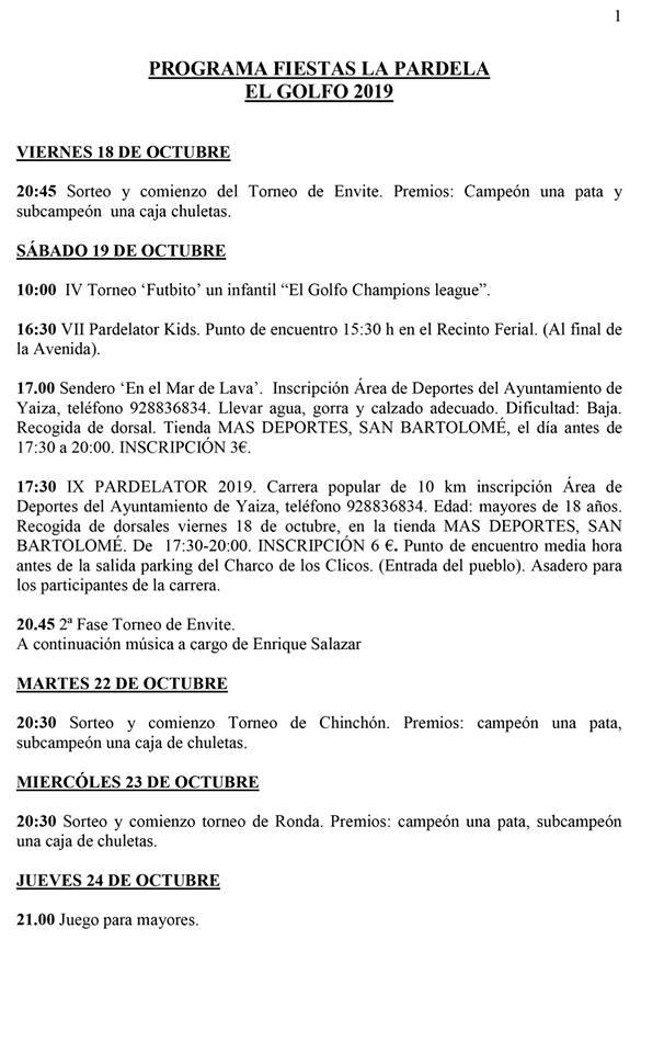 Fiestas de La Pardela 2019 - El Golfo (Las Palmas) 2