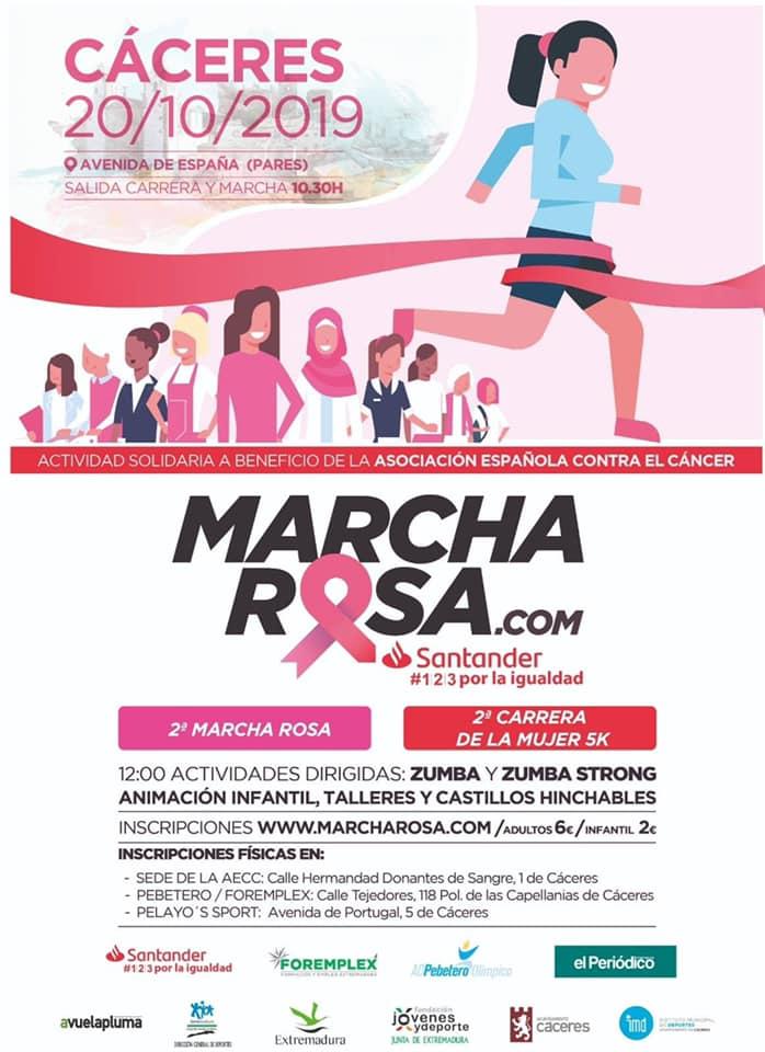 II Marcha rosa - Cáceres