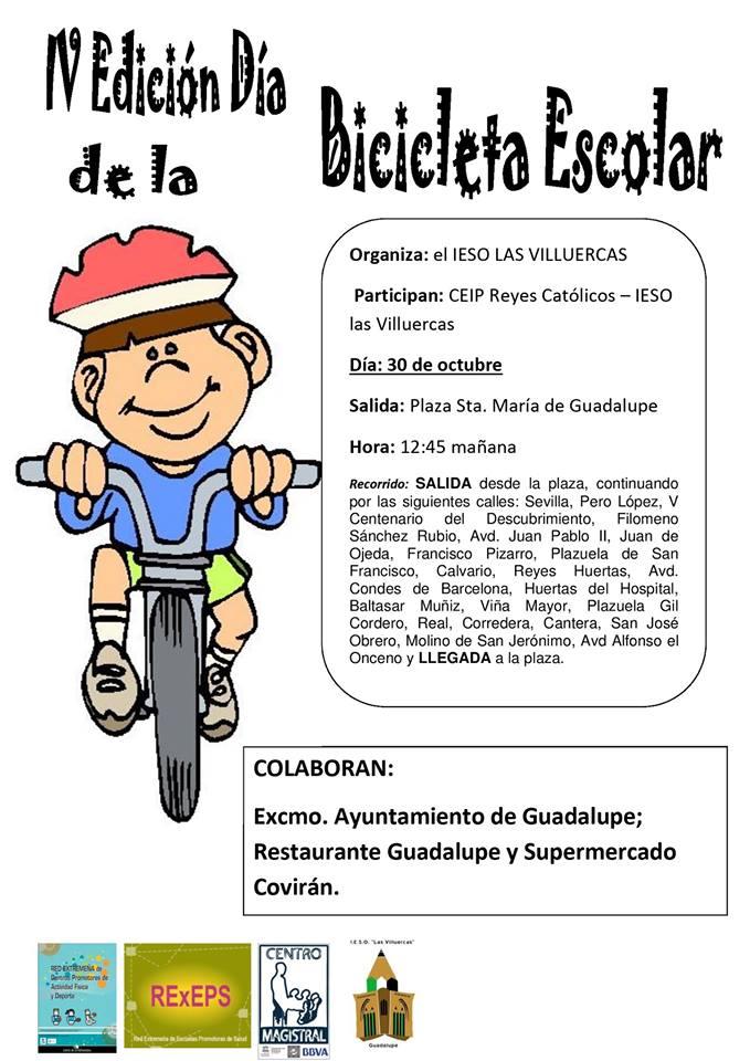 IV Día de la bicicleta escolar - Guadalupe (Cáceres)