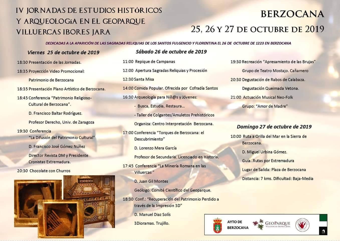 IV Jornadas de estudios históricos y arqueología - Berzocana (Cáceres)