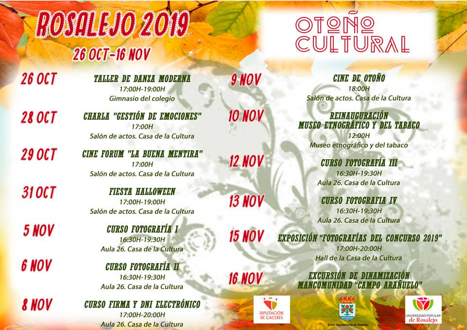 Otoño cultural 2019 - Rosalejo (Cáceres)