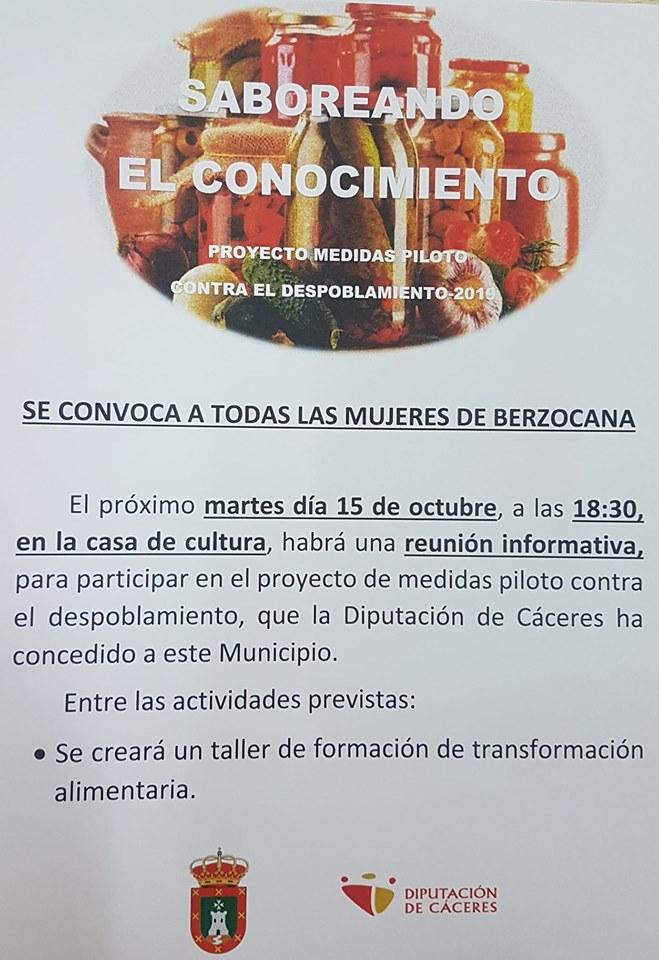 Reunión informativa contra el despoblamiento 2019 - Berzocana (Cáceres)