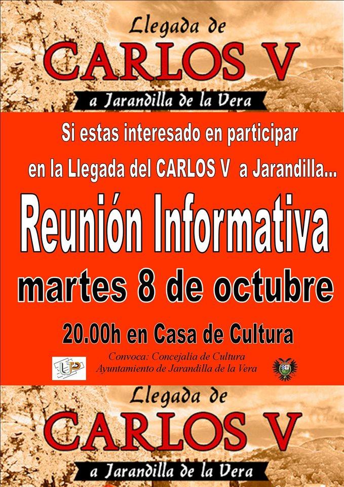 Reunión informativa sobre la llegada de Carlos V 2019 - Jarandilla de la Vera (Cáceres)