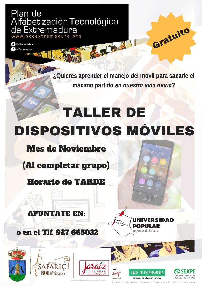 Taller de dispositivos móviles 2019 - Jaraíz de la Vera (Cáceres)