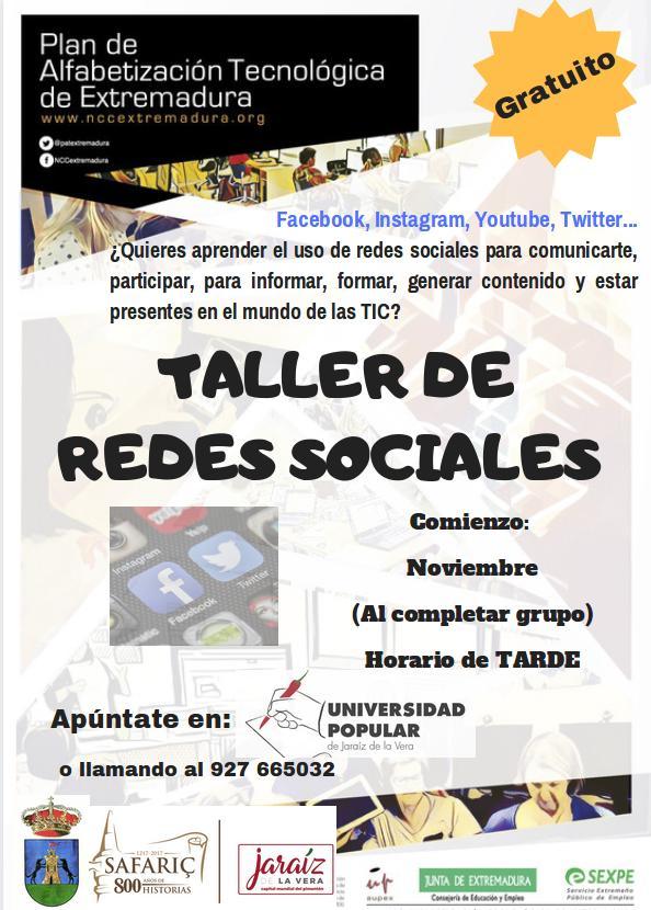 Taller de redes sociales 2019 - Jaraíz de la Vera (Cáceres)